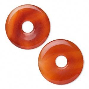 Rood agaat, donut, 40mm