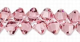 Swarovski kristal, hangende bicone, 8mm, light rose