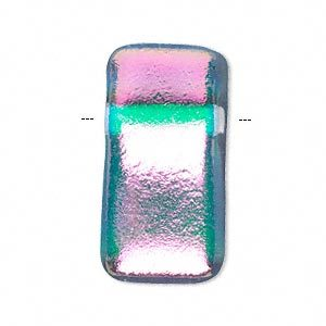 focal-dichroic-glass-clearpinkteal-32x17mm-top-drilled-rectangle-sold-p9056cxb